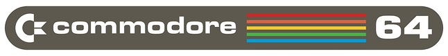 Ówczesne logo, Commodore, które znajdowało się na obudowach C-64