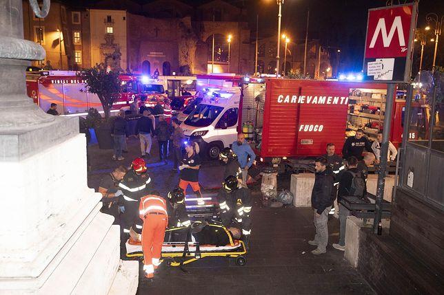 Rzym. Zapadły się schody ruchome, 20 osób zostało rannych