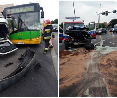 Wypadek w Poznaniu. Są ranni