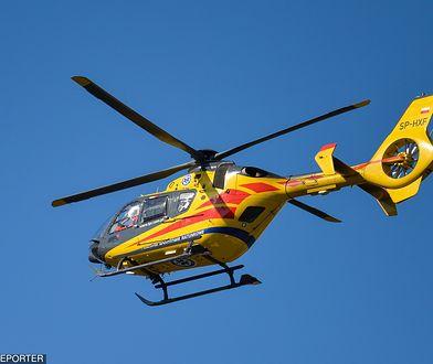 Po wypadku w Wawrzkach 4-latek został zabrany do szpitala w Krakowie śmigłowcem LPR