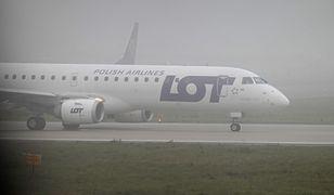 Warszawa. Samolot LOT-u awaryjnie lądował na Lotnisku Chopina