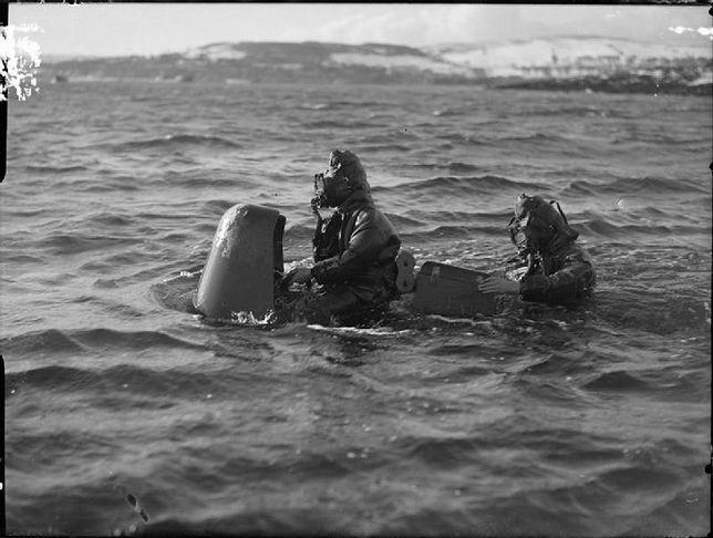 Chariot - brytyjska żywa torpeda z czasów II wojny światowej
