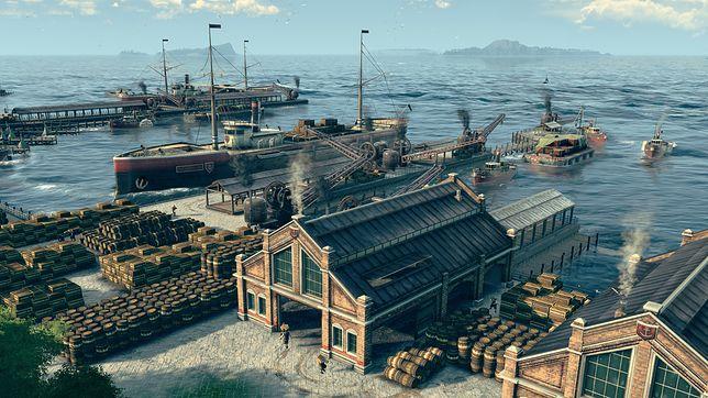 """Screenshot z gry """"Anno 1800"""" na PC wydanej w 2019 roku"""