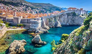 Chorwacja. Pomarańczowa strefa na wybrzeżu