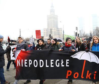 Czarny Protest na ulicach Warszawy