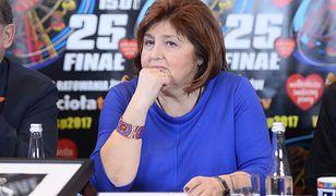 Lidia Niedźwiedzka Owsiak podczas 25. finału WOŚP.