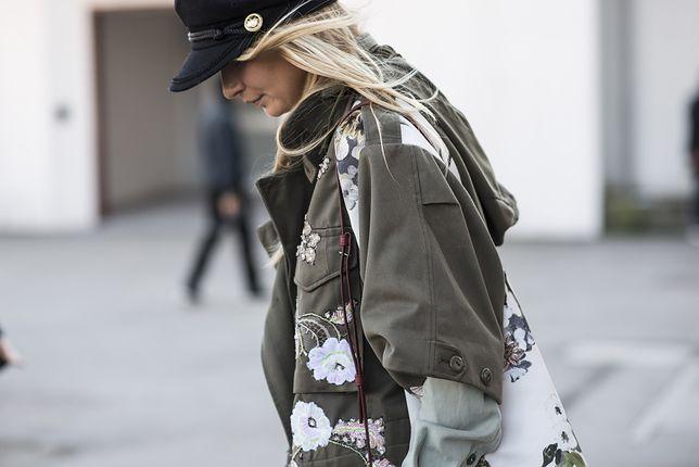STREET STYLE: Wojskowa kurtka i skórzane spodnie