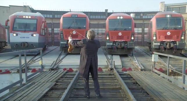 Hymn Polski w wykonaniu muzykalnych lokommotyw