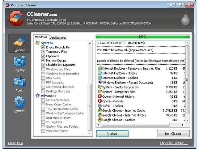 CCleaner - chroń swoją prywatność i przyspiesz działanie komputera