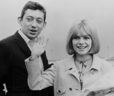 Serge Gainsbourg i France Gall po zwycięskim konkursie Eurowizji w 1965 r.