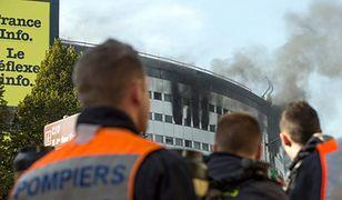 Pożar budynku publicznego radia w Paryżu