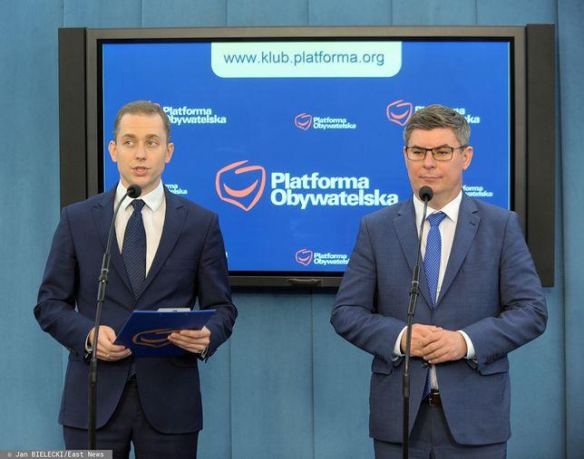 Posłowie PO: Cezary Tomczyk (L) oraz Jan Grabiec (P) zdj. arch.