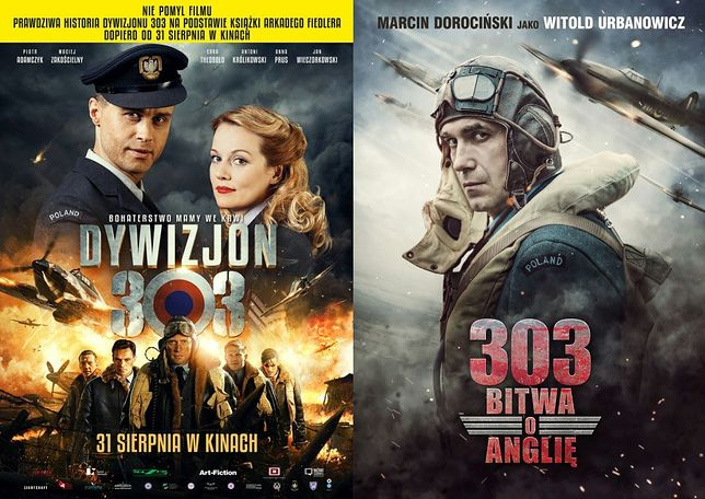 Jeden miesiąc, dwa filmy o Dywizjonie 303
