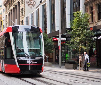 Zdjęcie poglądowe nowej lini tramwajowej wzdłuż George Street w Sydney