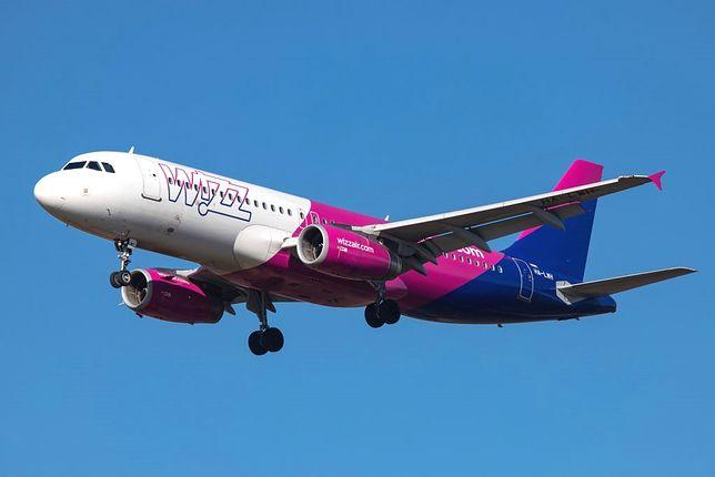 Samolot należący do linii Wizz Air