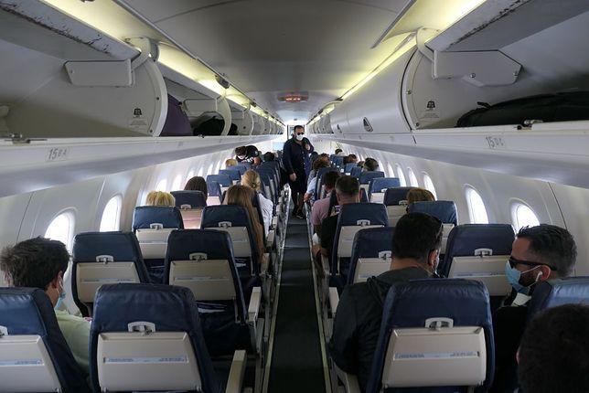 Wnętrze samolotu - zdjęcie poglądowe