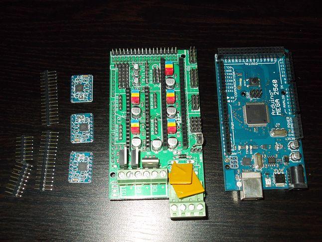 Sterowniki silników, moduł RAMPS i Arduino MEGA