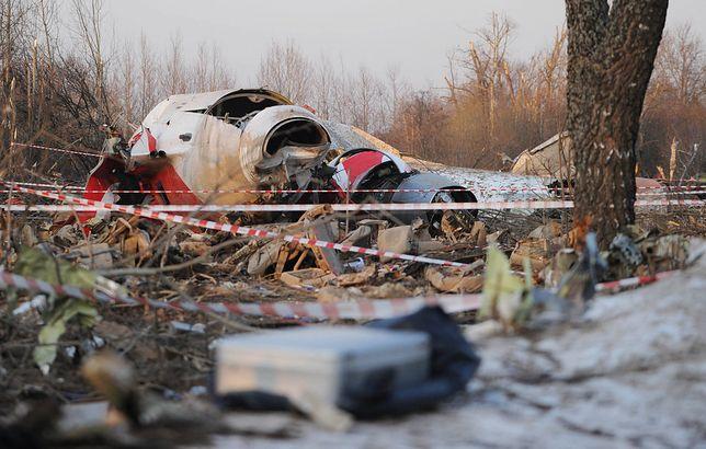 Wrak polskiego Tu-154, który rozbił się pod Smoleńskiem