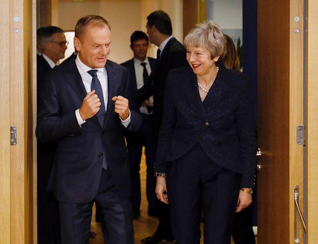 Donald Tusk i Theresa May podczas negocjacji w Brukseli