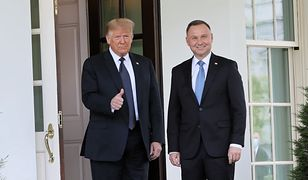 Andrzej Duda w USA. Spotkał się z Donaldem Trumpem w Białym Domu