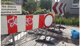 Bielsko-Biała. Zniszczony znak drogowy