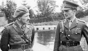 Dowódca generał brygady Sosabowski i generał porucznik Sił Zbrojnych Wielkiej Brytanii Browning