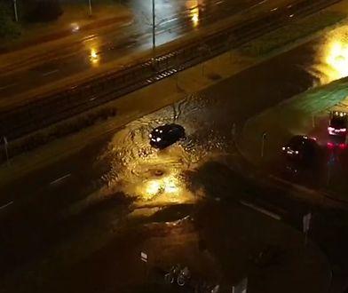 Gdańsk. Obfite opady deszczu i burze