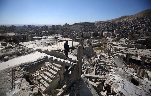 Mieszkaniec miasta Barzeh w pobliżu Damaszku