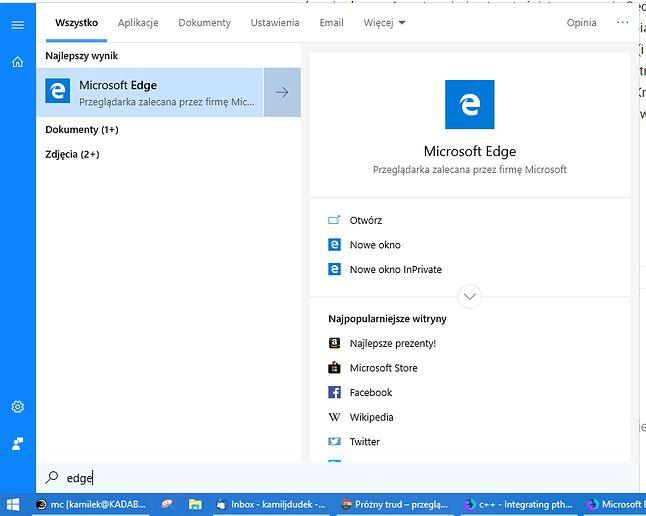 """""""Przeglądarka zalecana przez firmę Microsoft"""""""