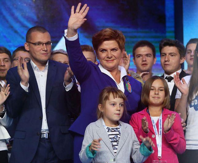 Beata Szydło podczas konwencji PiS