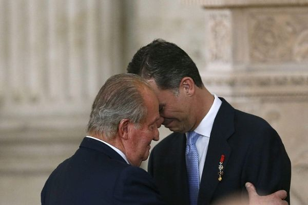 Król Juan Carlos i książę Filip