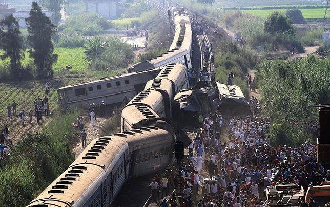 Katastrofa kolejowa w Egipcie. Liczba ofiar rośnie