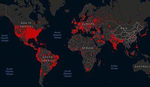 Mapa koronawirusa: liczba chorych przekroczyła 18,5 mln na całym świecie