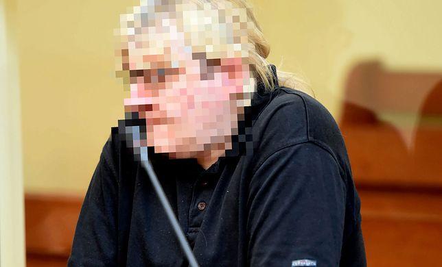 Mariusz T. podczas procesu w 2015 r. na sali sądu w Gostyninie