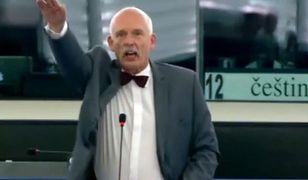 """Janusz Korwin-Mikke """"hajluje"""" w Parlamencie Europejskim"""