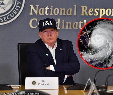 Huragan Dorian zatrzymał Donalda Trumpa? Większość Polaków - biorących udział w badaniu Ariadny - uważa, że kataklizm to tylko wymówka