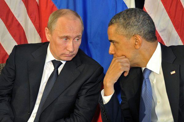 Władimir Putin i Barack Obama; zdjęcie archiwalne