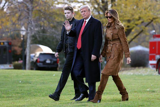 Donald Trump, Melania Trump i ich syn, Barron Trump