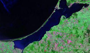 Zdjęcie satelitarne Mierzei Wiślanej
