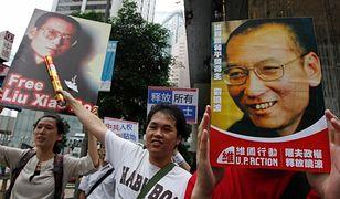 Puste krzesło dla Xiaobo podczas wręczenia nagród Nobla