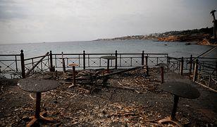 Pogorzelisko w okolicach Aten