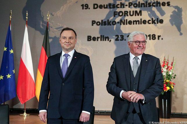 Prezydenci Andrzej Duda i Frank-Walter Steinmeier podczas XIX Forum Polsko-Niemieckiego
