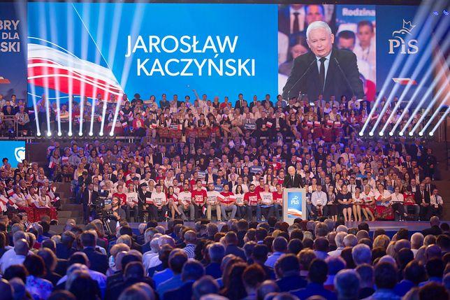 Jarosław Kaczyński na konwencji PiS