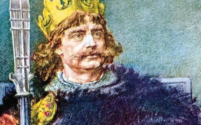 Bolesław I Chrobry według Jana Matejki, XIX w. Portret rysowany ołówkiem zostal, pokolorowany po śmierci malarza.Wikipedia