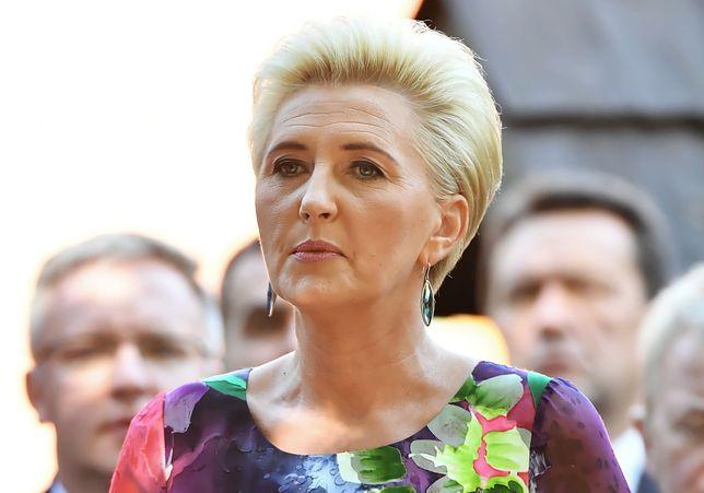 Dożynki prezydenckie w Spale. Agata Duda ostatnio często stawia na granatowy kolor