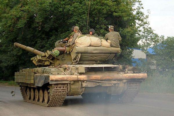 Do Ługańska przedarli się bojownicy i sprzęt wojskowy z Rosji