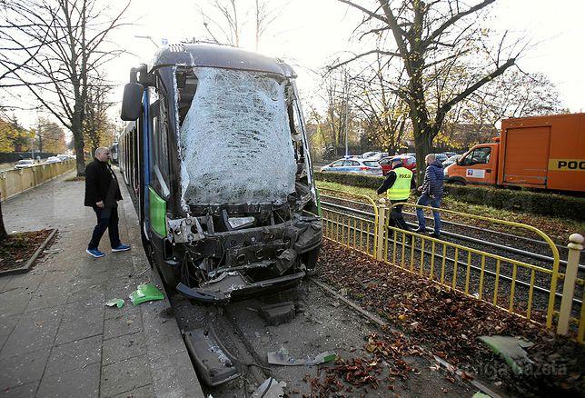 Szczecin. Zderzenie tramwajów. Motorniczy zasłabł