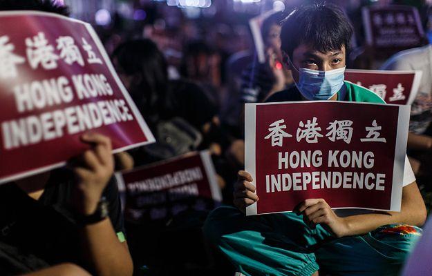 Chiny: manifestacja na rzecz niepodległości Hongkongu