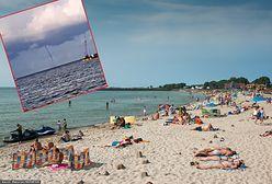 Potężna trąba wodna nad Bałtykiem. Turyści uciekali z plaży na Półwyspie Helskim