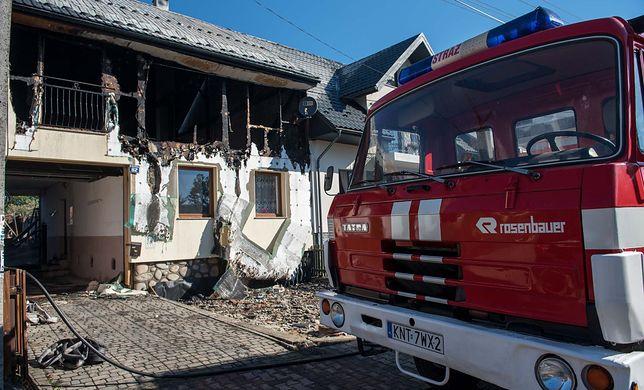 Pożar w Nowej Białej wybuchł w sobotę po południu Fot. Marcin Szkodziński